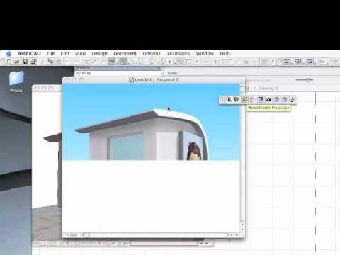 Exterior render ArchiCAD