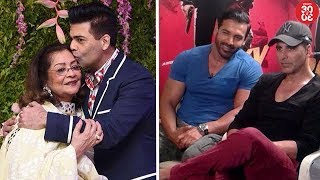 Karan's Picture Perfect Moment With Mom Hiroo Johar | John On His Special Equation With Akshay - ZOOMDEKHO