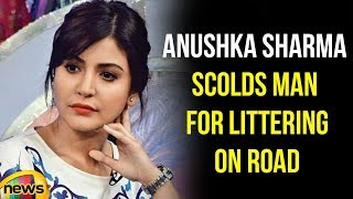 Virat Kohli Shared A Video Of Anushka Sharma Insists A Man For Littering On Road | Mango News - MANGONEWS