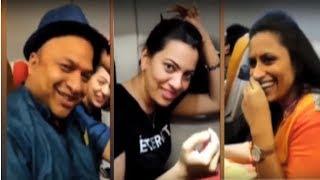 RP Patnaik, Geetha Madhuri, Kousalya Funny Video | విమానంలో కామెడీ | How To Tie Narada Mudi - RAJSHRITELUGU