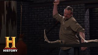 Forged in Fire: The Dreaded Antler Chop Test (Season 5) | History - HISTORYCHANNEL