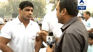 Happy to be here: Sushil Kumar, Vijender Singh join Run for Unity - ABPNEWSTV