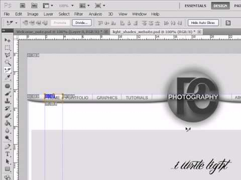 Exporting from Photoshop to Dreamweaver-part 1