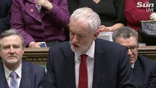 Jeremy Corbyn after PM wins no confidence vote - THESUNNEWSPAPER