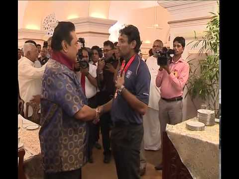 2014 T20 Champions welcome to say president on sri lanka