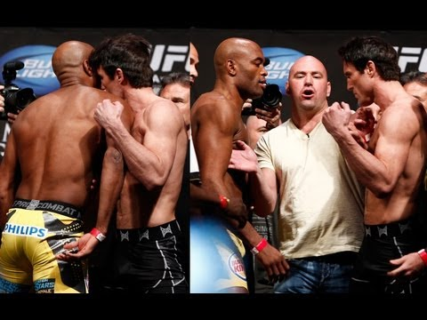 UFC 148: Anderson Silva Hits Chael Sonnen in Face During Weigh-Ins