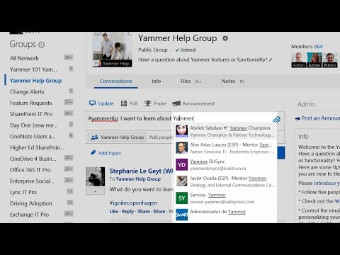 YammerTip: Yammer Autocomplete