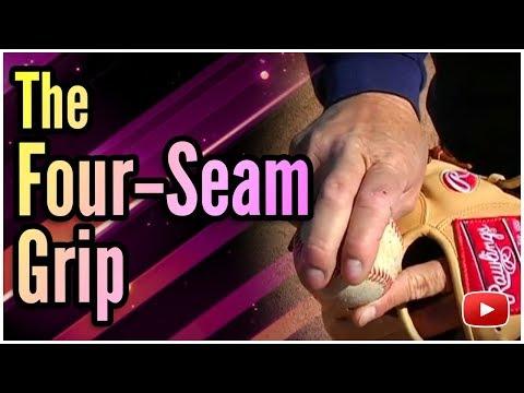 How to Grip the Baseball - The Four-Seam Grip - Coach Jerry Stitt