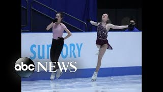 US figure skater is accused of intentionally cutting fellow athlete on the ice - ABCNEWS
