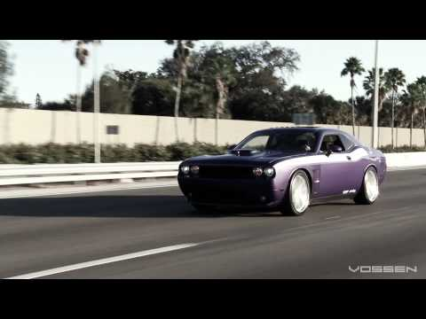 "Dodge Challenger R/T on 22"" Vossen VVS-CV1 Concave Wheels / Rims"