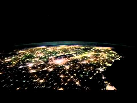 Our Planet at  Night - Relaxing Music Video