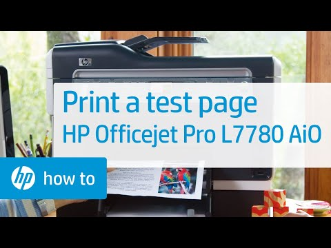 Printing a Test Page - HP Officejet Pro L7780 All-in-One Printer