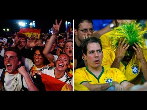Germans party hard, Brazilians broken after 7-1 history-maker