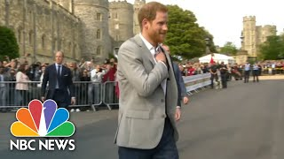 Princes Harry Meet Royal Fans On Eve Of Wedding Walkabout | NBC News - NBCNEWS