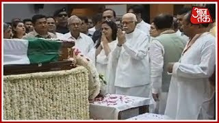 LK Advani And Uddhav Thackeray Pay Tribute To Atal Bihari Vajpayee At BJP HQ | Live - AAJTAKTV