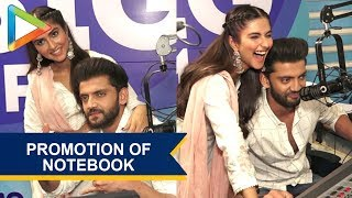 Zaheer Iqbal and Pranutan Bahl Promoting their Upcoming Film Notebook at Big FM - HUNGAMA