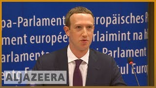 🇪🇺 Facebook's Zuckerberg grilled by EU Parliament over data scandal | Al Jazeera English - ALJAZEERAENGLISH