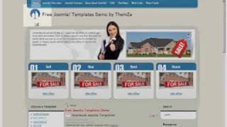'Real Estate' free Joomla 1.5 template (Video Tutorial) view on youtube.com tube online.