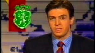 Reportagem sobre os treinos antes do Sporting - Porto em 1995/1996