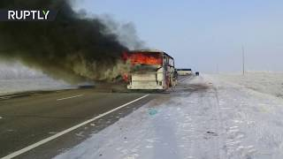 52 people die in bus fire in Kazakhstan - RUSSIATODAY