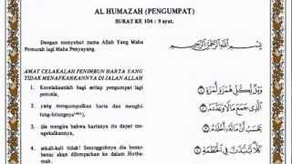 Al Humazah Al Quran Terjemahnya