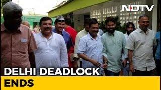 Arvind Kejriwal Leaves Lt Governor's House, Delhi Deadlock Ends - NDTV