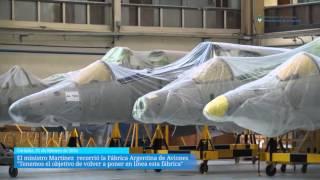 Ministro de Defensa visitó la Fabrica Argentina de Aviones