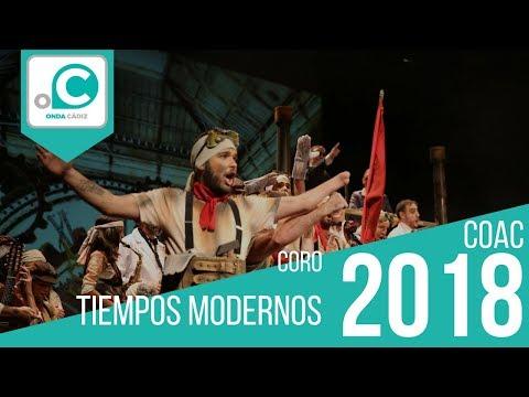 Sesión de Preliminares, la agrupación Tiempos modernos actúa hoy en la modalidad de Coros.