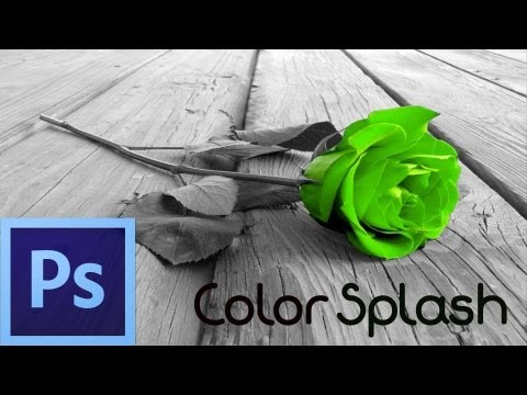 Photoshop CS6 Tutorial: Color Splash Effect (For Beginners)