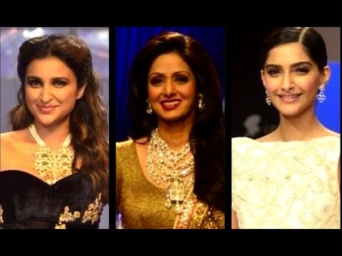Parineeti, Sridevi & Sonam Glitter On The Ramp