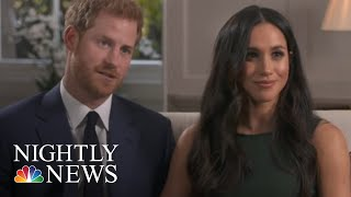 Meghan Markle And Prince Harry Arrive At Windsor Castle For Wedding Rehearsal | NBC Nightly News - NBCNEWS
