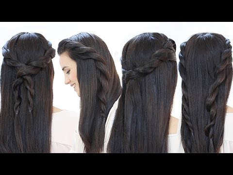 4 Peinados fáciles con trenzas de cordón