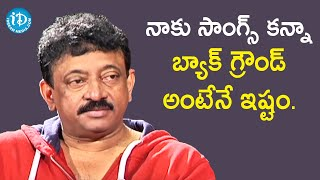 I Love Background Music Than Songs - RGV | RGV About Music | Ramuism 2nd Dose | iDream Telugu Movies - IDREAMMOVIES