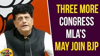 Piyush Goyal Says Three more Congress MLAs may join BJP | BJP Latest News | Mango News - MANGONEWS