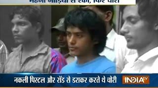 Delhi's super thief who speak high English caught with One Air Gun and 35 Mobiles - INDIATV