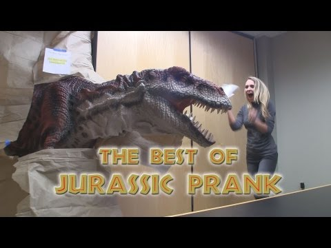 The Best of Jurassic Prank!! Scaring people with Dinosaurs - Kojo the T-Rex