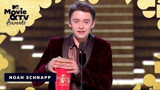 Noah Schnapp Accepts the Award for Most Frightened Performance | 2018 MTV Movie & TV Awards - MTV