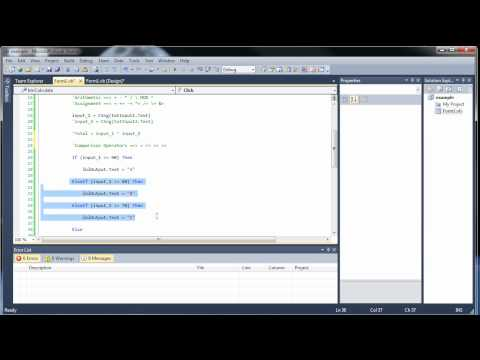 Visual Basic Tutorial 4 - If Statements and Comparison and Logical Operators