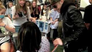 Justin Bieber Makes It A Very Special Day At Seacrest Studios!