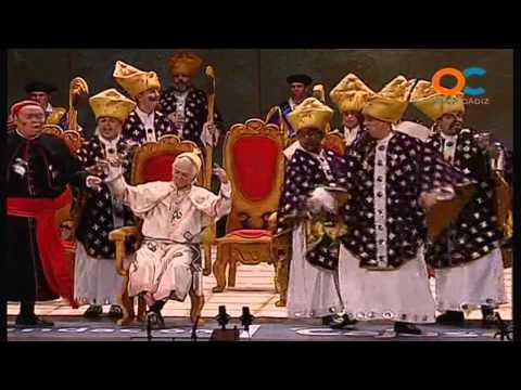 Sesión de Cuartos de final, la agrupación Los auténticos Carapapas actúa hoy en la modalidad de Chirigotas.