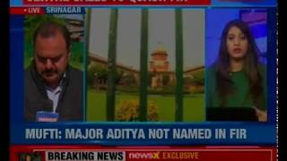 India with army: Centre demands quashing FIR against Major Aditya - NEWSXLIVE