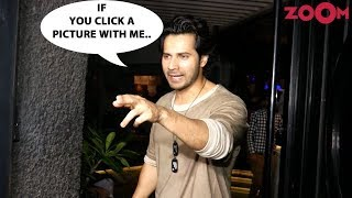 Varun Dhawan's SHOCKING Request To The Female Photographer At Bhumi Pednekar's Birthday Bash - ZOOMDEKHO