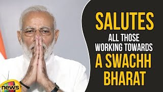 PM Modi Salutes All Those Working Towards A Swachh Bharat | Mango News - MANGONEWS