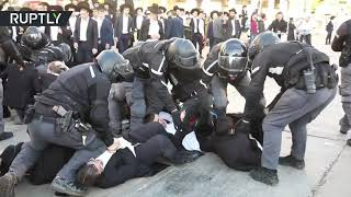 Chaos, scuffles & arrests as ultra-Orthodox Jews protest military draft - RUSSIATODAY