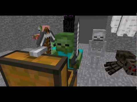 Monster School Combat Minecraft Animation