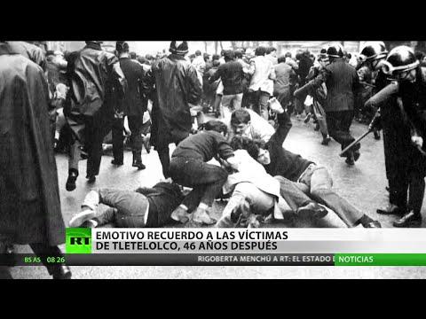 Masacre de Tlatelolco: Protestas en México para conmemorar el 46.º aniversario de la matanza de 1968