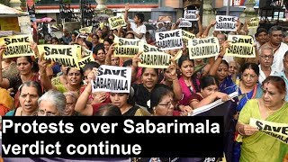 Protests over Sabarimala verdict continue; LDF govt to clarify its position on verdict - NEWSXLIVE