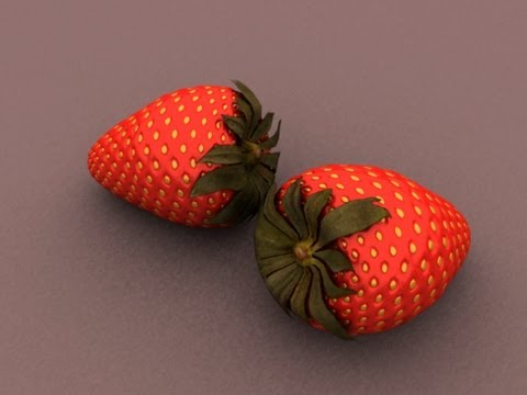 Autodesk Maya 2013 Tutorial - Modeling Simple Strawberry