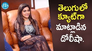 Actress Dolly Sha Cute Speech in Telugu | Bhagya Nagara Veedhullo Gammathu | iDream Movies - IDREAMMOVIES