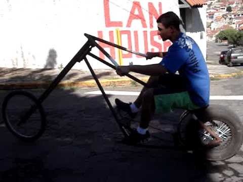 BIKE CHOPPER COM RODA DE CARRO.